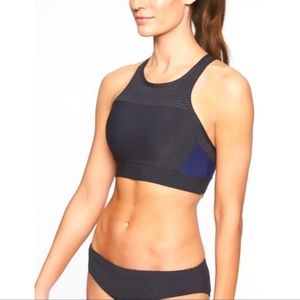 Athleta Bonaire Black and Blue Bikini Set